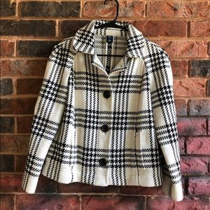 GAP Plaid Bracelet Sleeve Jacket Size M